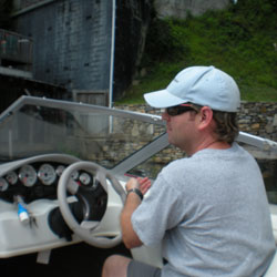 me on the boat at lake lure